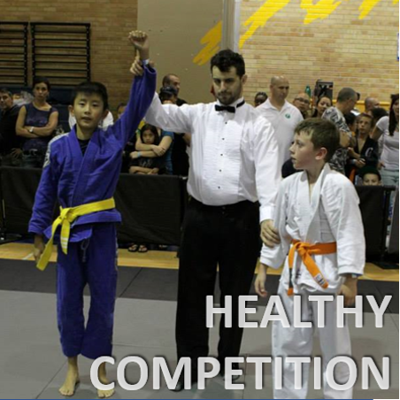 Childrens martial arts has healthy competition