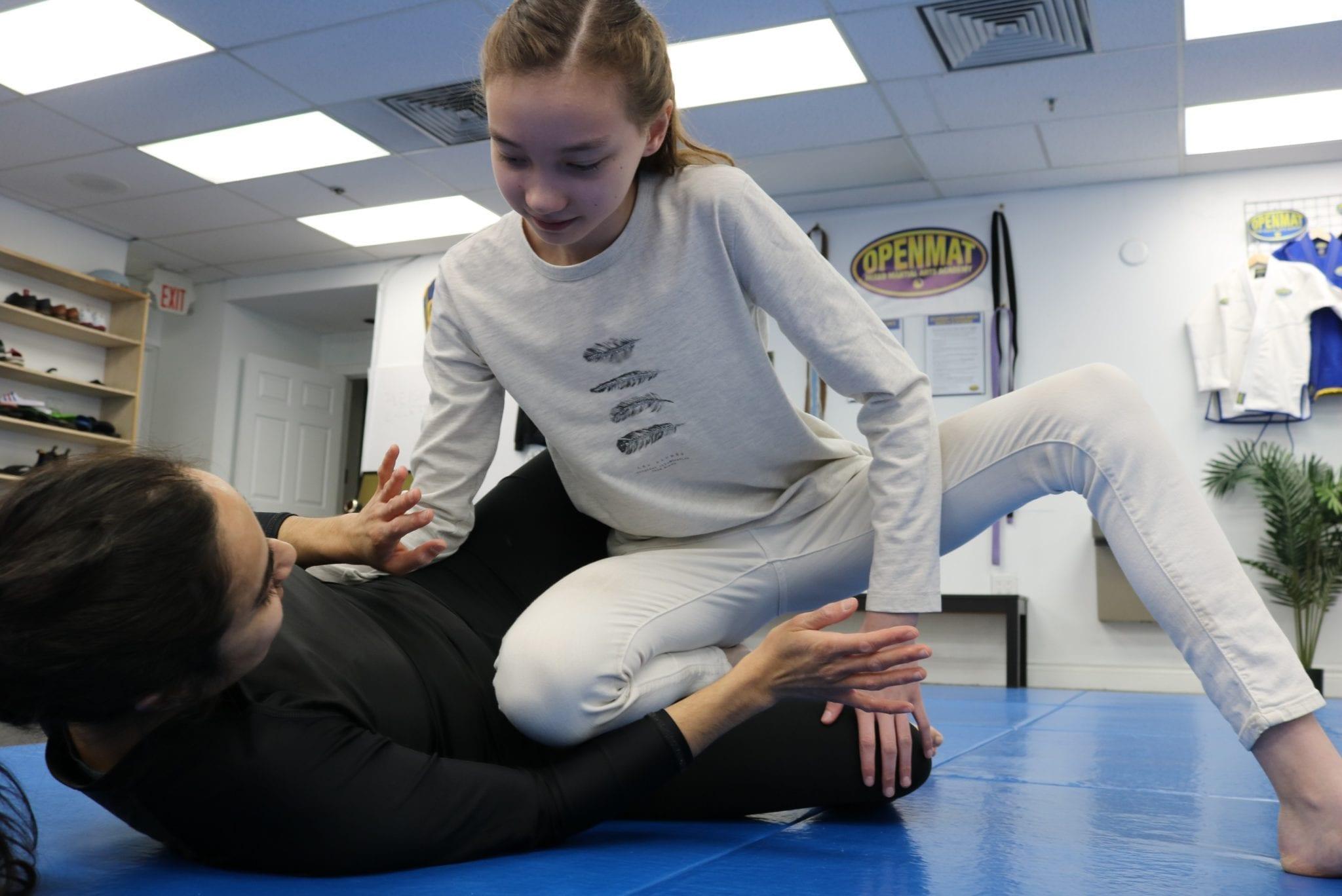 Summer camp martial arts session