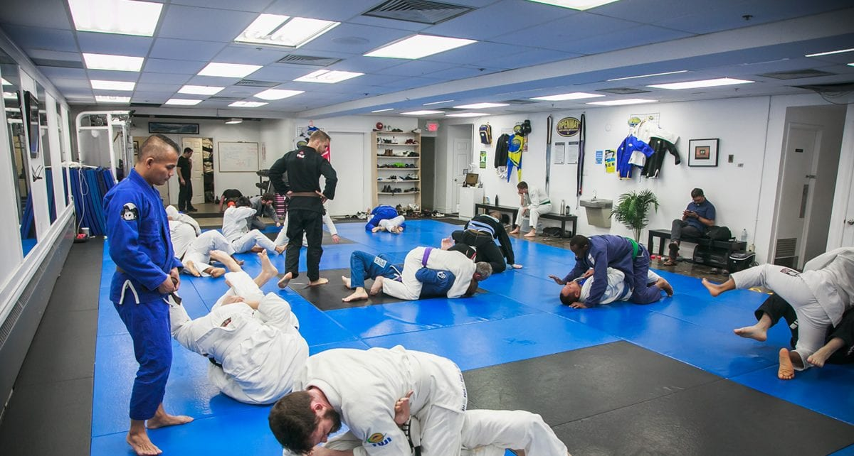 People doing a BJJ class at OpenMat MMA Toronto