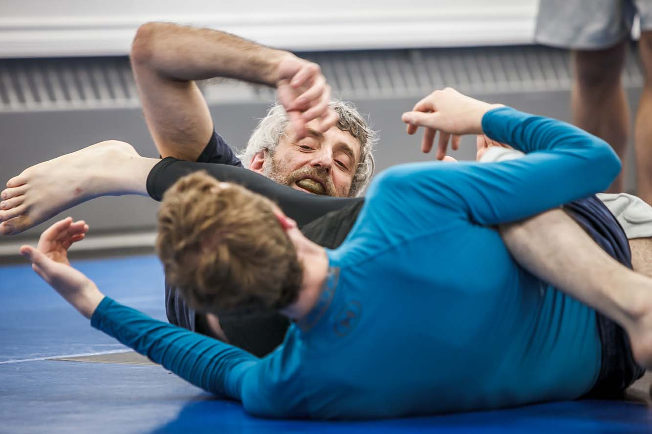 Two men drilling Brazilian Jiu Jitsu